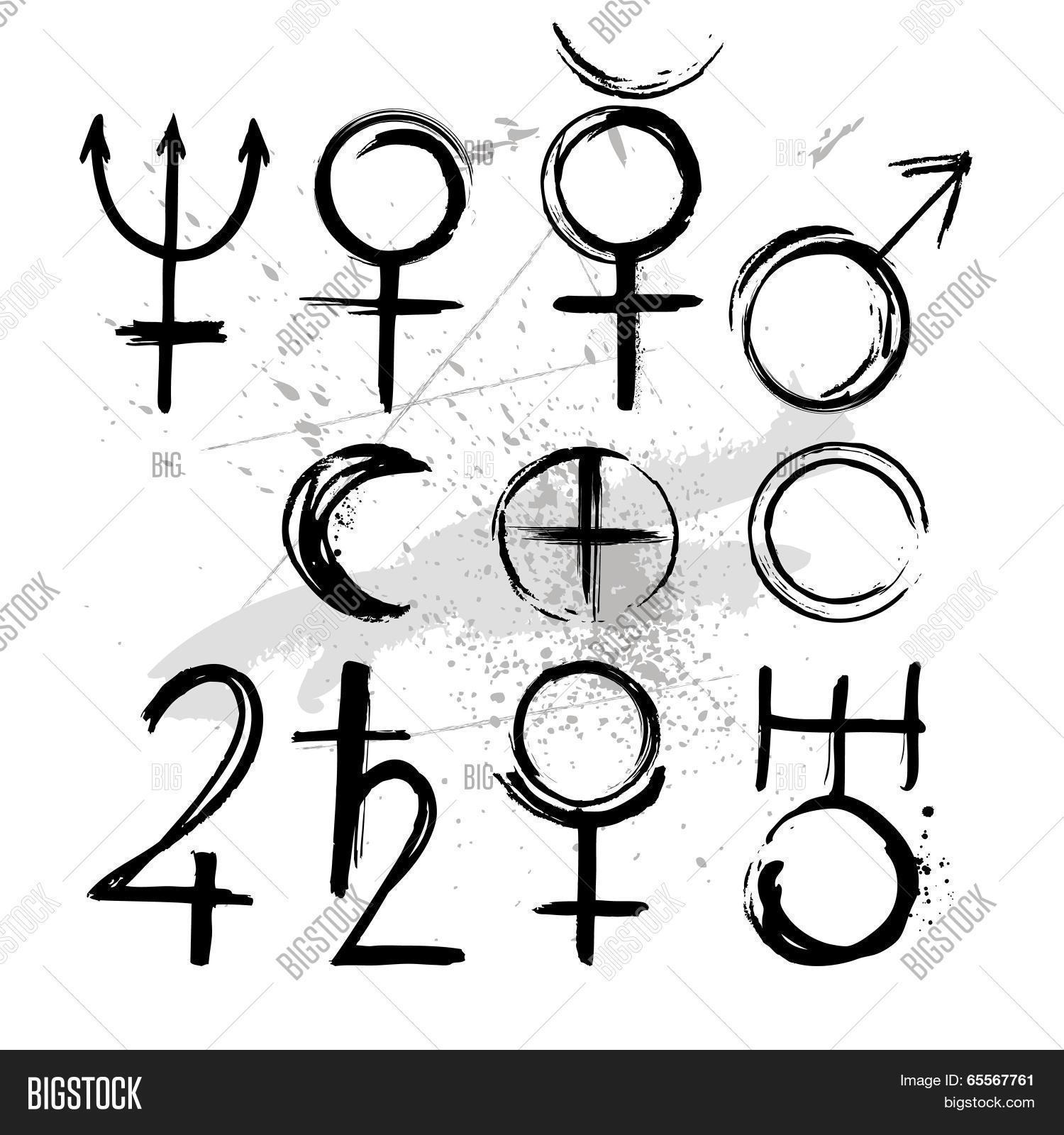 Symbol Planets Vector & Photo (Free Trial) | Bigstock