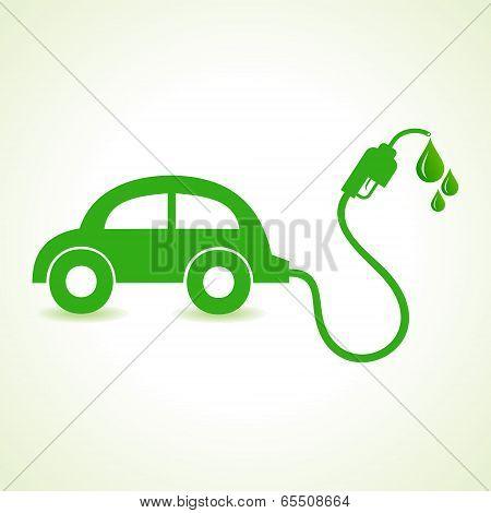 Bio fuel concept with car stock vector