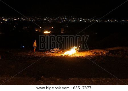 Lag-ba-Omer celebration in Eilat, Israel