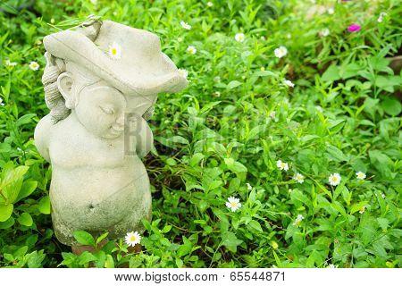 A Happy Girl Sculpture