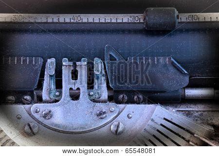 Close Up Of A Dirty Vintage Typewriter