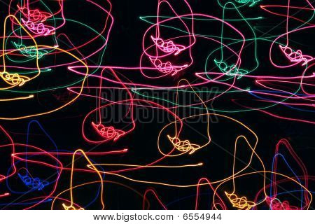 Abstract Christmas lights background
