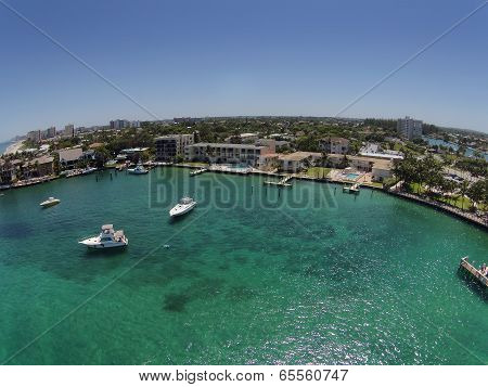 Pompano Beach, Florida Aerial View Of Coastline