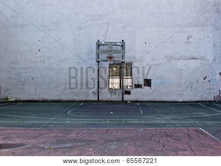 New York City basketball court