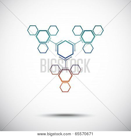 Connection Of Hexagonal Cells