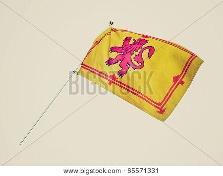 Retro Look Scottish Flag