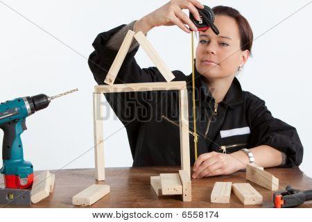 Woman Constructing