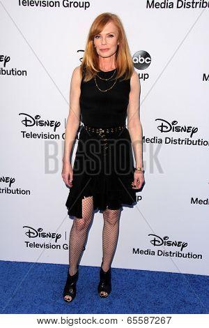 LOS ANGELES - MAY 19:  Marg Helgenberger at the Disney Media Networks International Upfronts at Walt Disney Studios on May 19, 2013 in Burbank, CA