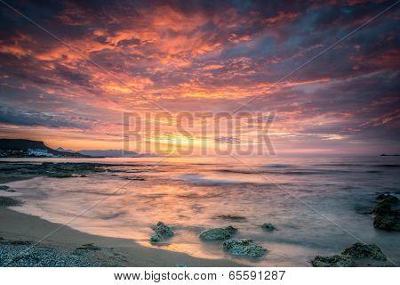 sunset on the Crete,Greece