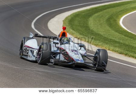 Indianapolis, IN - May 18, 2014:  Kurt Busch (26) takes to the track as he quaifies for the Indianapolis 500 IndyCar race in Indianapolis, IN.