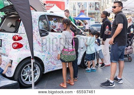 Smart Car Marketing Op For Children In Dundas Square