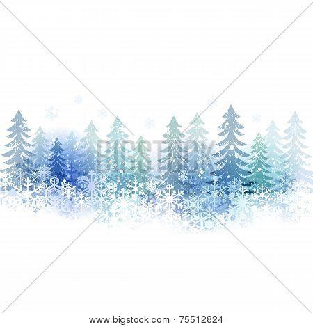 Snow Scenery Background