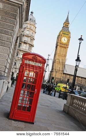Big Ben And Phone Booth