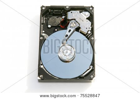 A unique view of a Genuine Computer Hard Drive. Computer Hard Drives are the Brains of any computer system. Without Hard Drives no computer would work or have any memory or be able to anything fun.