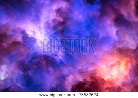 Heaven And Hell Battle In The Sky Painting