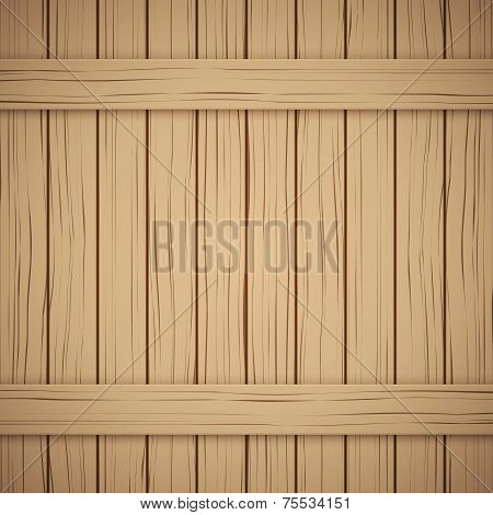 Vector Wood plank texture for your background.