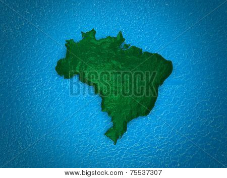 Brazilian map stylized