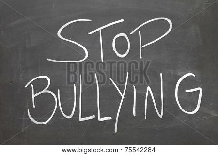 Blackboard with the text - Stop Bullying