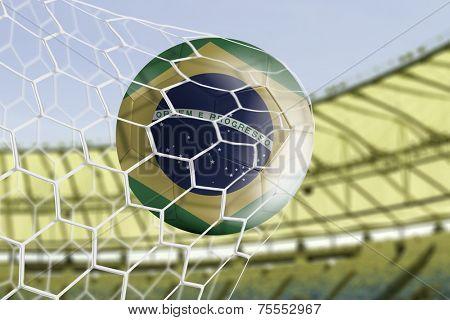 Amazing Goal with Brazilian soccer ball