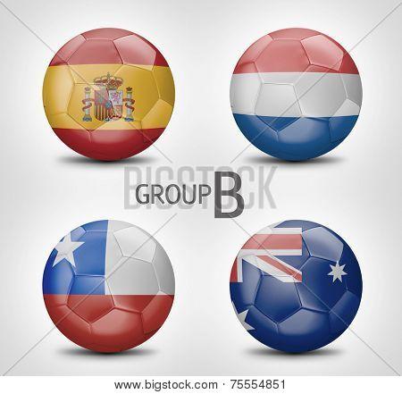 Group B - Spain, Netherlands, Chile, Australia (Brazil)