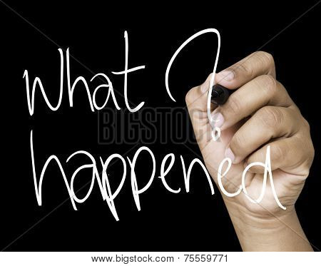 What happened hand writing on white marker on transparent wipe board