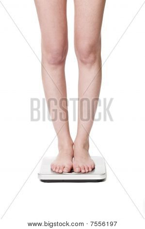 Standing on a weightscale
