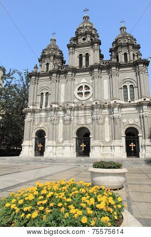 Beijing cathedral in summer