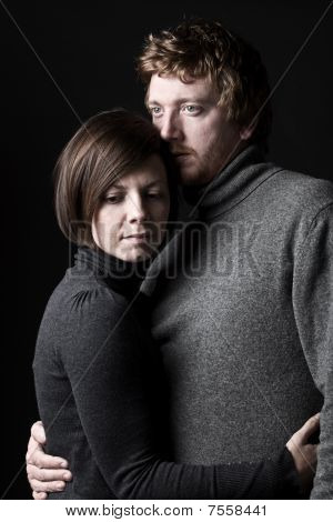 30S Couple Comforting Each Other