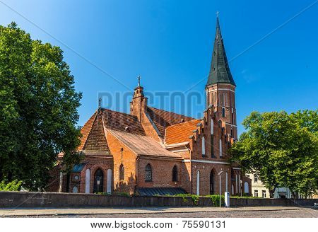 Vytautas' The Great Church In Kaunas, Lithuania