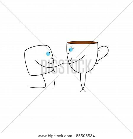 Cup And Sugar Cube