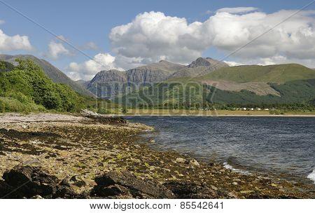 Loch Linnhe And Cliffs Of Glen Coe