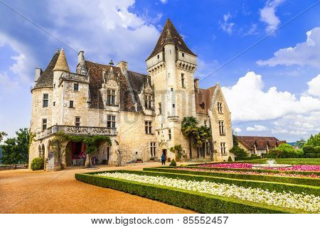 Milandes - one of most beautiful castles in France, Dordogne