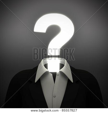 Question mark head