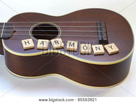 Antique Ukulele Harmony Letter tiles