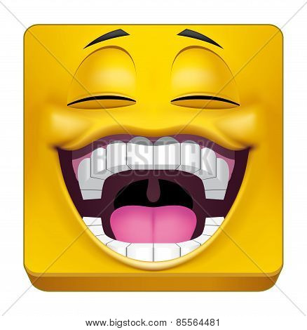 Square Emoticon Laughing