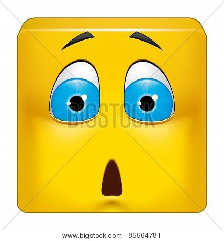 Square Emoticon Shocked