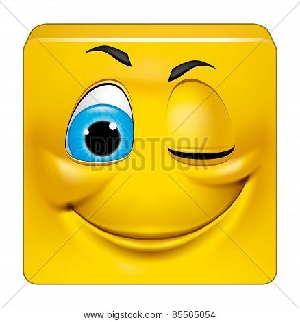 Square Emoticon Winking