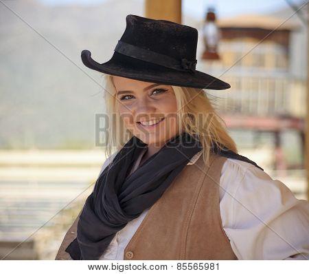 A Cowgirl Of Old Tucson, Tucson, Arizona