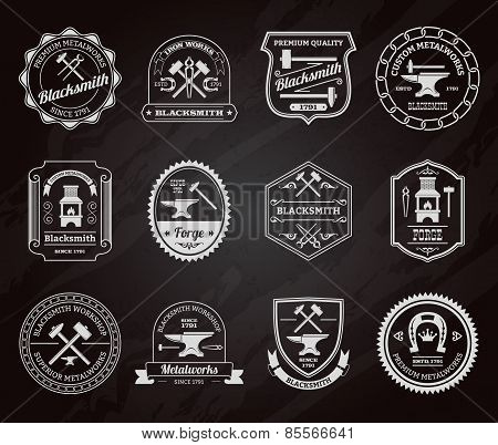 Blacksmith Label Chalkboard