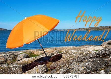 Swedish Coast With Happy Weekend