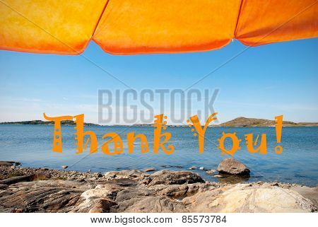 Swedish Coast With Thank You