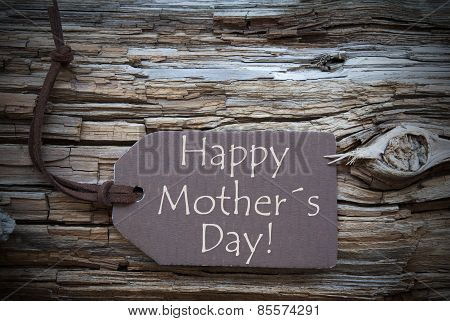 Brown Label With Happy Mothers Day