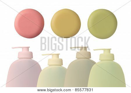 Bottle And Soap-dish With Soap