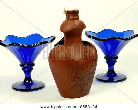 Liquor And Vases For Jam