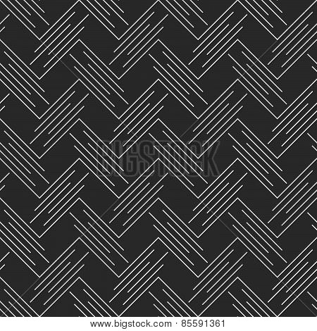Monochrome Pattern With White Diagonal Uneven Chevrons