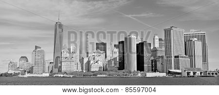 Lower mahattan and One World Trade Center