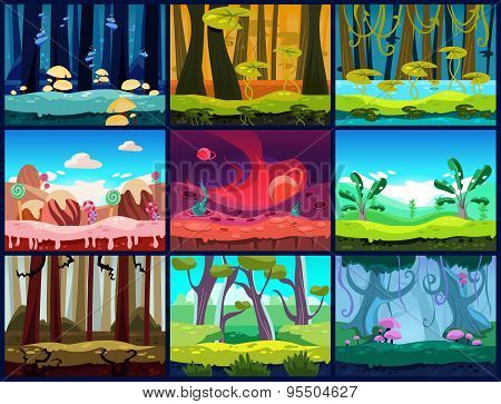 Game Background Vector Seamless