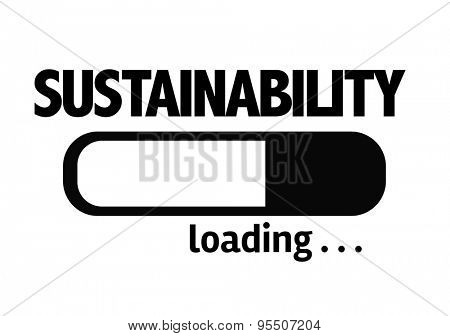 Progress Bar Loading with the text: Sustainability
