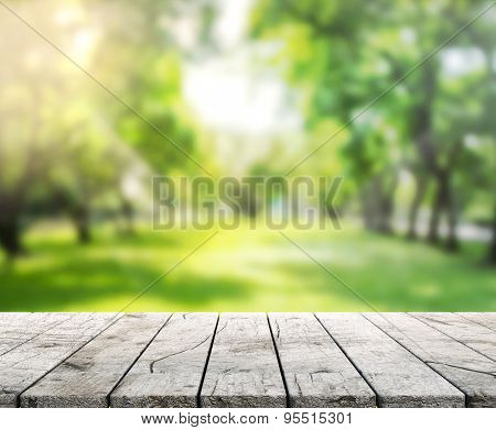 Table Top And Blur Nature The Background