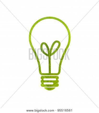 Green Leaf Light Bulb